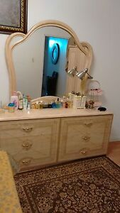 Bedroom set with storage boxes for sale $500 obo