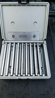 Brown Sharpe - 10 Pair Ultra Precision Parallel Set Brand