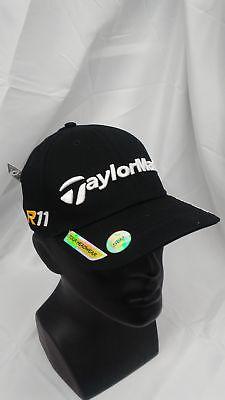 New Taylormade Golf Dustin Johnson Fitted Cap Black S M PENTA Burner R11  Logos aa9ed4645557