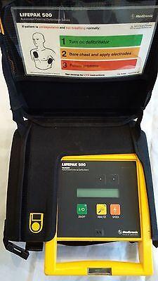Physio-Control LifePak 500 Biphasic ECG Very Good Condition EMT Medic EG