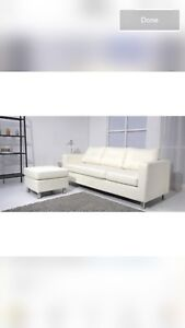 Brand new Reversible Sectional white leather