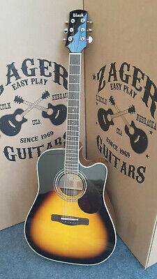 "Adam Black S-5CE Sunburst Guitar, ""Easy Play"" made, rare Studio Collection!"