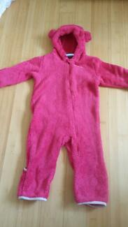 Baby girl winter fleece suit size 1