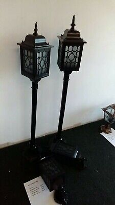 2x New American Style Outdoor Lamp Post Electric Powder Coated 45 Inches lantern