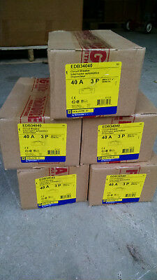 Square D Edb34040 3pole 40amp 480v Circuit Breaker New Warranty Nf Panels