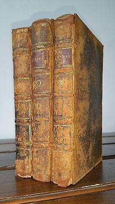 1752 THE RAMBLER VOLS 1, 2, 3 Original Calf Bindings SAMUEL JOHNSON Reflections