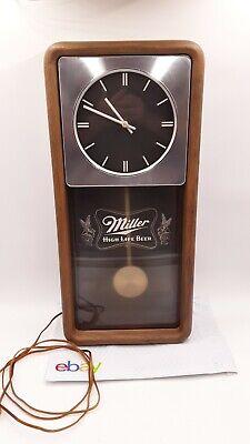 Vintage Miller High Life Beer Pendulum CLOCK LIGHTED