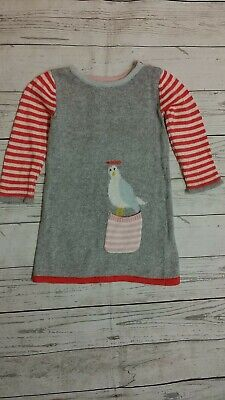 Mini Boden 12-18 Month Girl Sweater Dress Seagull Bird Cotton Cashmere