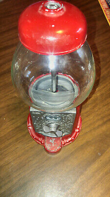 VINTAGE Carousel Gumball Bank Vending Machine Stand