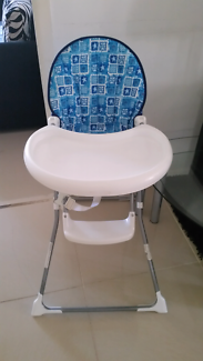 High chair and cradle n swing  plus x2 baby walkers all for $50