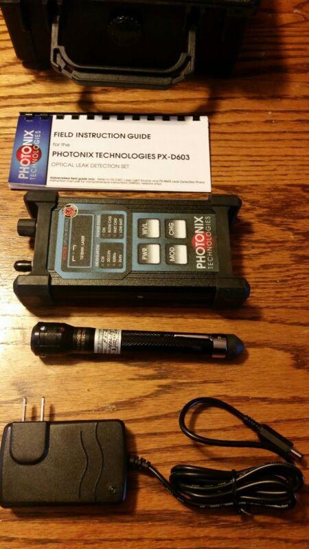 Photonix PX D603 Flash Detector, Px C601Techlite Fiber Optic Leak Detection Set