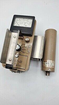 Ludlum Model 3 Geiger Counter Survey Meter W 44-3 Radio Meter Probe