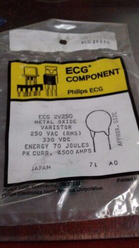 ECG 2V250 METAL OXIDE VARISTOR ( LOT OF 20)