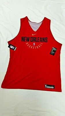 NIKE NBA NEW ORLEANS PELICANS REVERSIBLE PRACTICE JERSEY SIZE 3XT NWT IN PACKAGE
