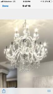 Chandelier crystal luminaire/ crystal light fixture