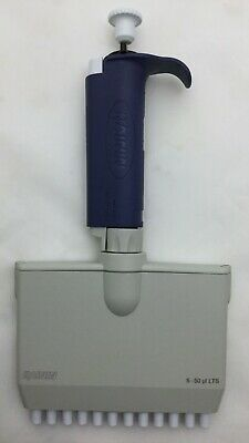 Rainin Pipet-lite Lts 12 Channel Pipette 5-50l Cleaned Calibrated