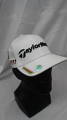 00fee5d8 New Taylormade Golf Dustin Johnson Fitted Cap White S/M PENTA Burner R11  Logos
