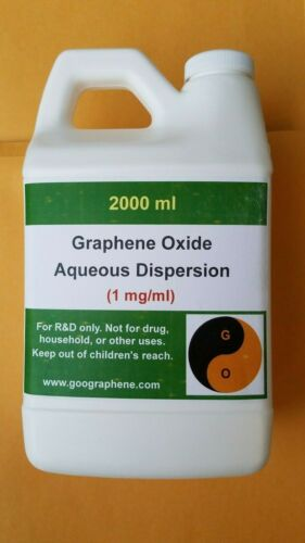 pH~6-7, 2000ML × 1 mg/ml, Single-Layer Graphene Oxide Aqueous Dispersion