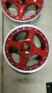 "Genuine set SSR MK 2K 15"" 4x100 red Speed star jdm wheels rims"