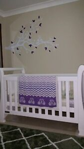 White Sleigh Cot & Change Table from Toys R Us.