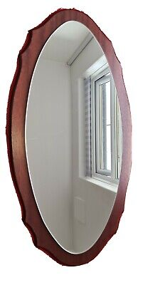 Vintage Mid Century Wooden Framed  Hall Mirror