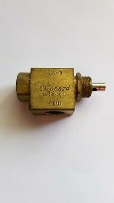 Clippard Mjv-3 Valve Without Plunger Cap Used -free Shipping-