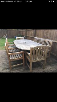 Outdoor teak 8 seater solid quality