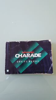 Daihatsu Charade owners manual