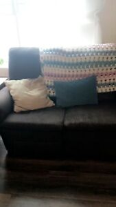 Full size brown couch and chair recliner