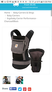 Ergo performance baby carrier with infant insert Victoria Park Victoria Park Area Preview