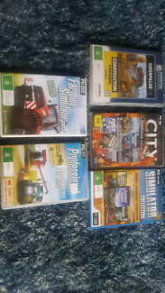 12 simulation games on 5 cds