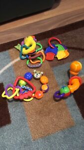 Baby teethers, rattles.