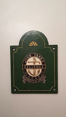 John Tann's Reliance Door Safe Plaque~vault~strongroom