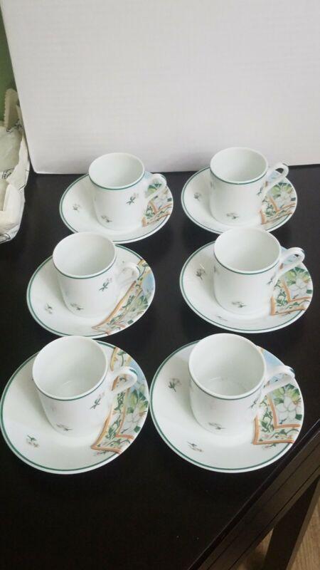 cups and saucers set of 6 richar ginori