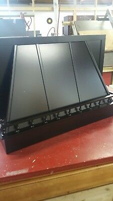 "36"" wood oven range hood satin black"