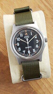 CWC G10 0552 1990 Royal Navy issue quartz wrist watch on new green NATO strap