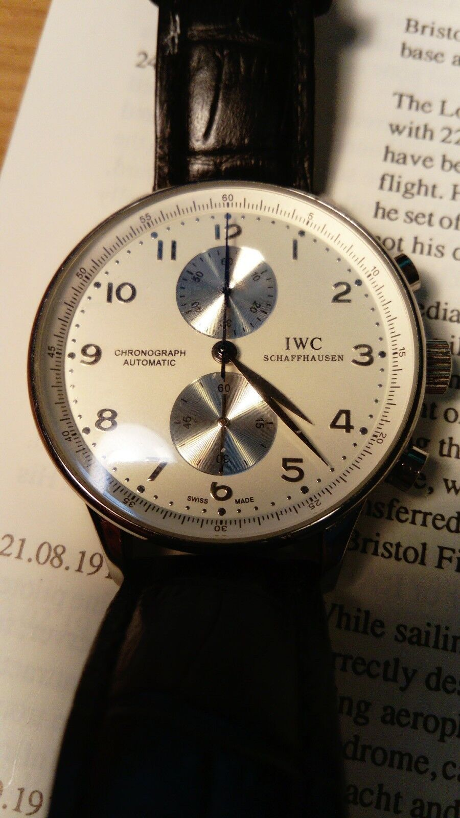 IWC International Watch Company Portuguese chronograph - watch picture 1