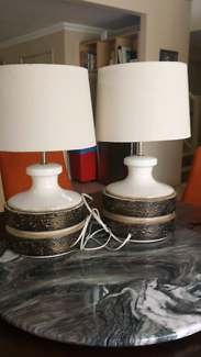 Pair of Retro Bedside Table Lamps