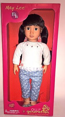 """New Our Generation May Lee 18"""" Doll Asian Fits American Girl Ivy Fast Shipping"""