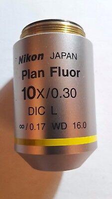 Nikon Plan Fluor 10x30 Dic L Microscope Objective.