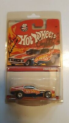 HOT WHEELS RED LINE CLUB '71 MUSTANG FUNNY CAR CRAZY HORSE AUTOGRAPHED