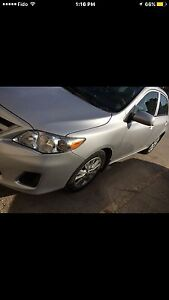 2011 Toyota Corolla with remote starter