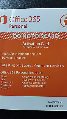 Microsoft Office 365 Personal 1 Year Subscription Of Latest Ms Office  1Tb Cloud