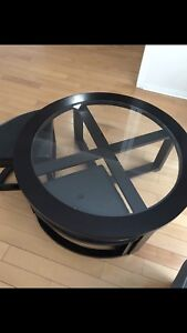 Leon's coffee table with 4 stools!