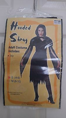Halloween Costume Factory (Brand New Factory Sealed Halloween Adult Costume Hooded Shrug size S)