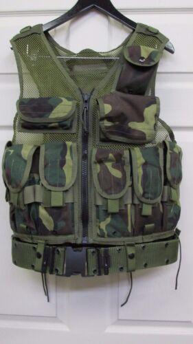 Eagle Industries Old School Tactical Assault Vest Woodland Camo Rifleman SEAL