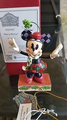 "Disney Traditions Jim Shore Enesco "" Merry Minnie """