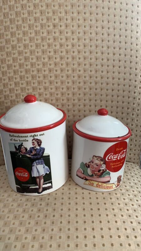 Coca-Cola 4Pc Vintage Advertising Canister Set