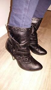 Women's Ladies Black Ankle Boots, Size 41 Cronulla Sutherland Area Preview