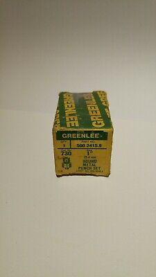 Greenlee 1 Diameter Round Metal Punch Set Model 730 500 2415.9 In Original Box